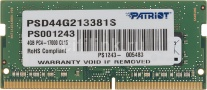 Память оперативная SO-DIMM DDR4 4096 Mb (pc4-17000) 2133MHz Patriot PSD44G213381S CL15 260-pin 1.5В single rank