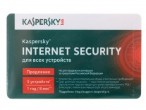 ПО Антивирус Kaspersky Internet Security 5-Desktop 1 year Renewal Card KL1941ROEFR